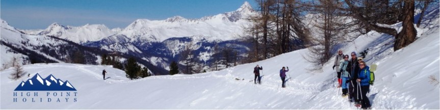 guided snow shoing queyras French Alps